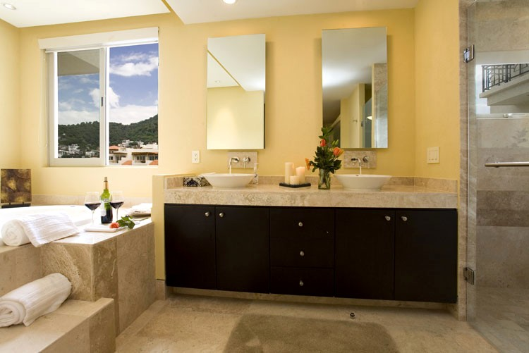 bathroom tile mirror molino de agua 409 puerto vallarta condo gay vallarta vacation