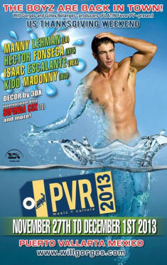 gay vallarta events will gorges PVR music culture 2013
