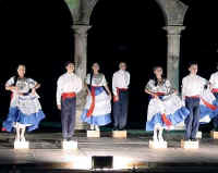 the Xiutla Folkloric Ballet at Los Arcos amphitheater