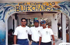 gay beach Puerto Vallarta Mexico and blue chairs staff