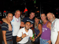 gay vallarta bar hopping tour Jan 7 at pacos ranch with christian, edgar, melinda and friends