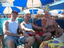 relaxing gay vacation at blue chairs - picture by michael bottrill