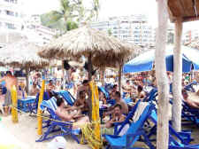 blue chairs beach puerto vallarta  - Semana Santa festivities in 2009