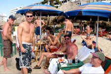 green chairs puerto vallarta gay beach - pic thanks to kurt stamm