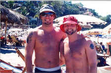 tim and glen at gay beach puerto vallarta - thanks to nuno