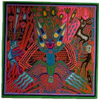 Spirit guide - Huichol yarn painting by Jose Benito Sanchez - thanks to Arte Magico Huichol gallery