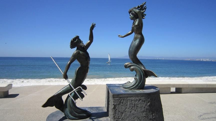 statue on Puerto Vallarta's malecon