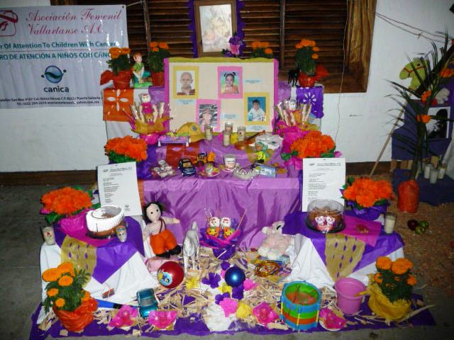 day of dead altar to Puerto Vallarta children who have died of cancer