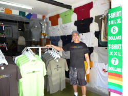 gay owned Vallarta stores with Martin at Rainbow T-Shirts