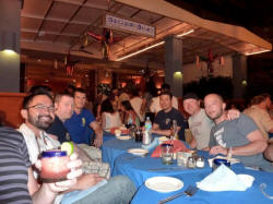 kevin and friends at daiquiri dick's puerto vallarta restaurant old town