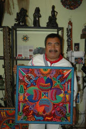 Santos Daniel one of the most collected Huichol artists - picture thanks to kevin at peyote people