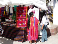 cultural fair and market from Oaxaca in Hidalgo park