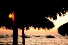 sunset in puerto vallarta - picture thanks to william clark