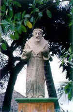 statue of Saint Francis of Assisi in San Pancho (san Francisco), Nayarit