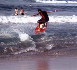 heriberto on the skimboard