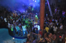 top gay club Manana with lively crowd after the gay carnival parade